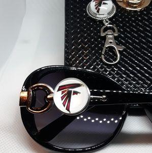 Atlanta Falcons Sunglasses and Necklace set